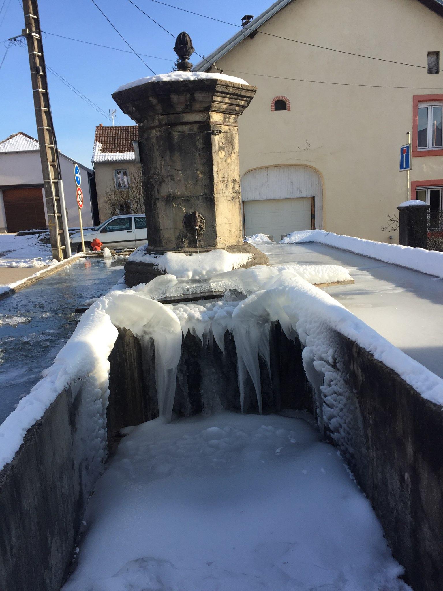 fontaine glace
